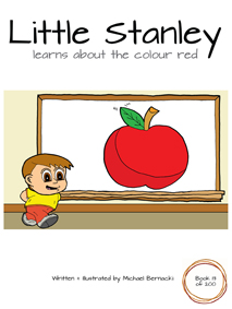 Little Stanley learns about the colour red (Book 13 of 200) Cover