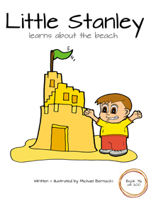 Little Stanley learns about the beach (Book 76 of 200) Cover