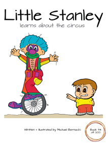 Little Stanley learns about the circus (Book 94 of 200) Cover