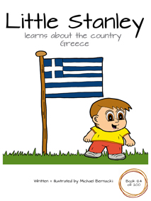Little Stanley learns about the country Greece (Book 124 of 200) Cover