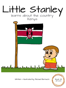 Little Stanley learns about the country Kenya (Book 133 of 200) Cover