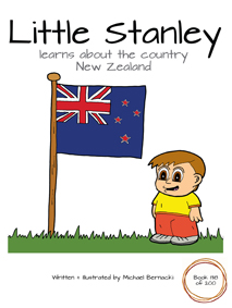 Little Stanley learns about the country New Zealand (Book 138 of 200) Cover