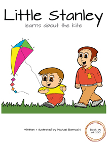 Little Stanley learns about the kite (Book 95 of 200) Cover